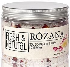 Düfte, Parfümerie und Kosmetik Badesalz mit Rose und Zitrone - Fresh&Natural