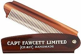 Düfte, Parfümerie und Kosmetik Faltbarer Bartkamm CF82T - Captain Fawcett Folding Pocket Beard Comb