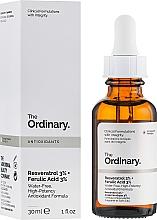 Düfte, Parfümerie und Kosmetik Gesichtsserum mit Resveratrol 3% und Ferulasäure 3% - The Ordinary Resveratrol 3% + Ferulic Acid 3%