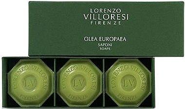 Seifen Geschenkset mit extra nativem Olivenöl 3 St. - Lorenzo Villoresi Olea Europaea (3x100g) — Bild N1