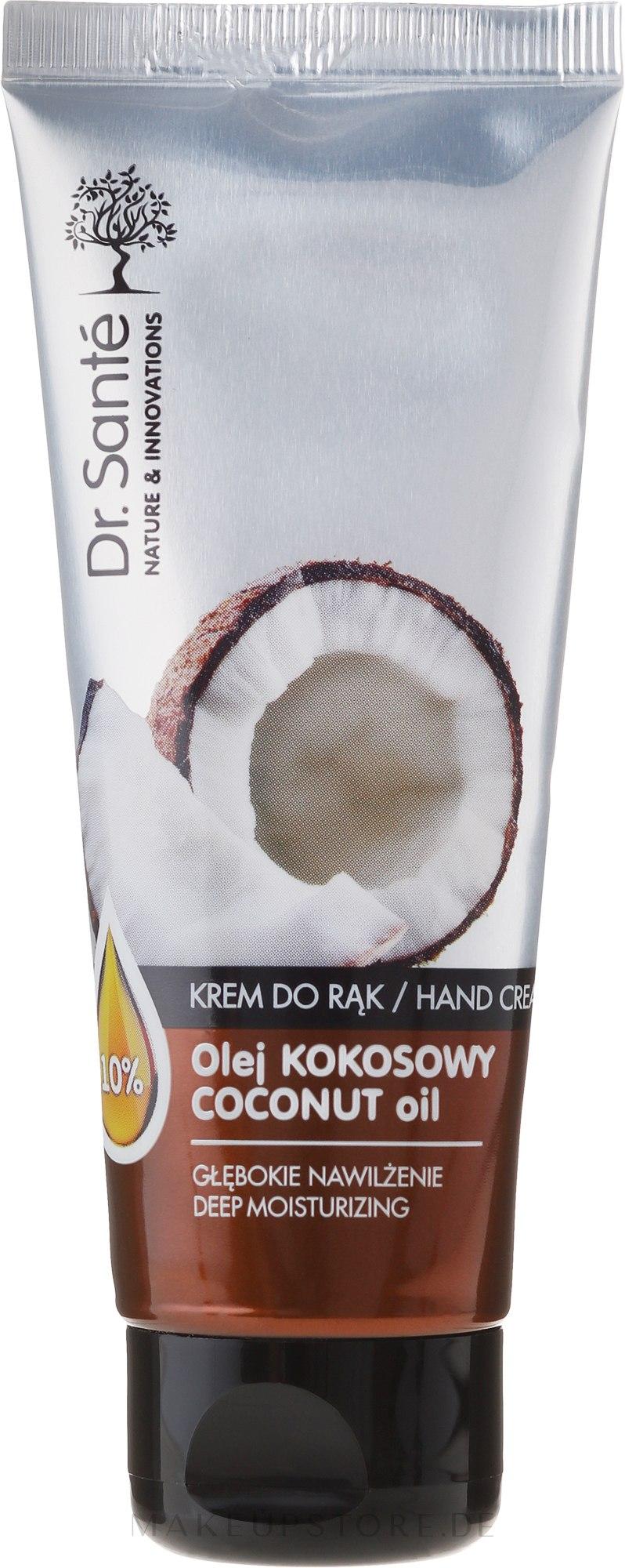 Feuchtigkeitsspendende Handcreme - Dr. Sante Hand Cream Coconut Oil — Bild 75 ml