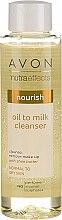 Düfte, Parfümerie und Kosmetik Pflegende Gesichtsreinigungslotion zum Abschminken mit Sheabutter für normale bis trockene Haut - Avon Nutra Effects Nourish Oil To Milk