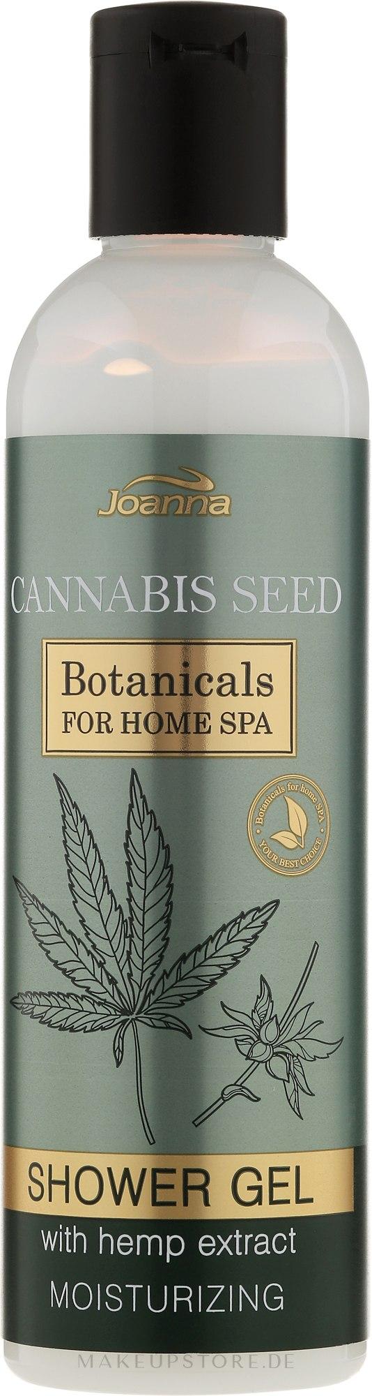Feuchtigkeitsspendendes Duschgel mit Hanfextrakt - Joanna Botanicals For Home Spa Cannabis Seed Shower Gel — Bild 240 ml