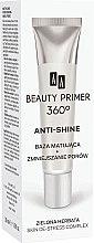 Düfte, Parfümerie und Kosmetik Primer zur Porenverfeinerung mit Anti-Glanz-Effekt und grünem Tee-Extrakt - AA Cosmetics Beauty Primer 360 Anti-Shine Make-Up Base
