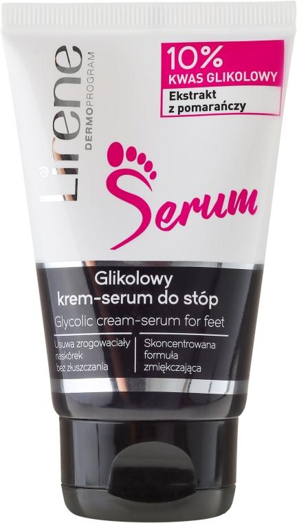 Fußcreme-Serum mit Glykolsäure - Lirene Glycolic Cream-Serum For Feet