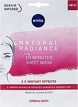 Düfte, Parfümerie und Kosmetik 10 Minuten Tuchmaske für strahlend schöne Haut - Nivea Natural Radiance 10 Minutes Sheet Mask