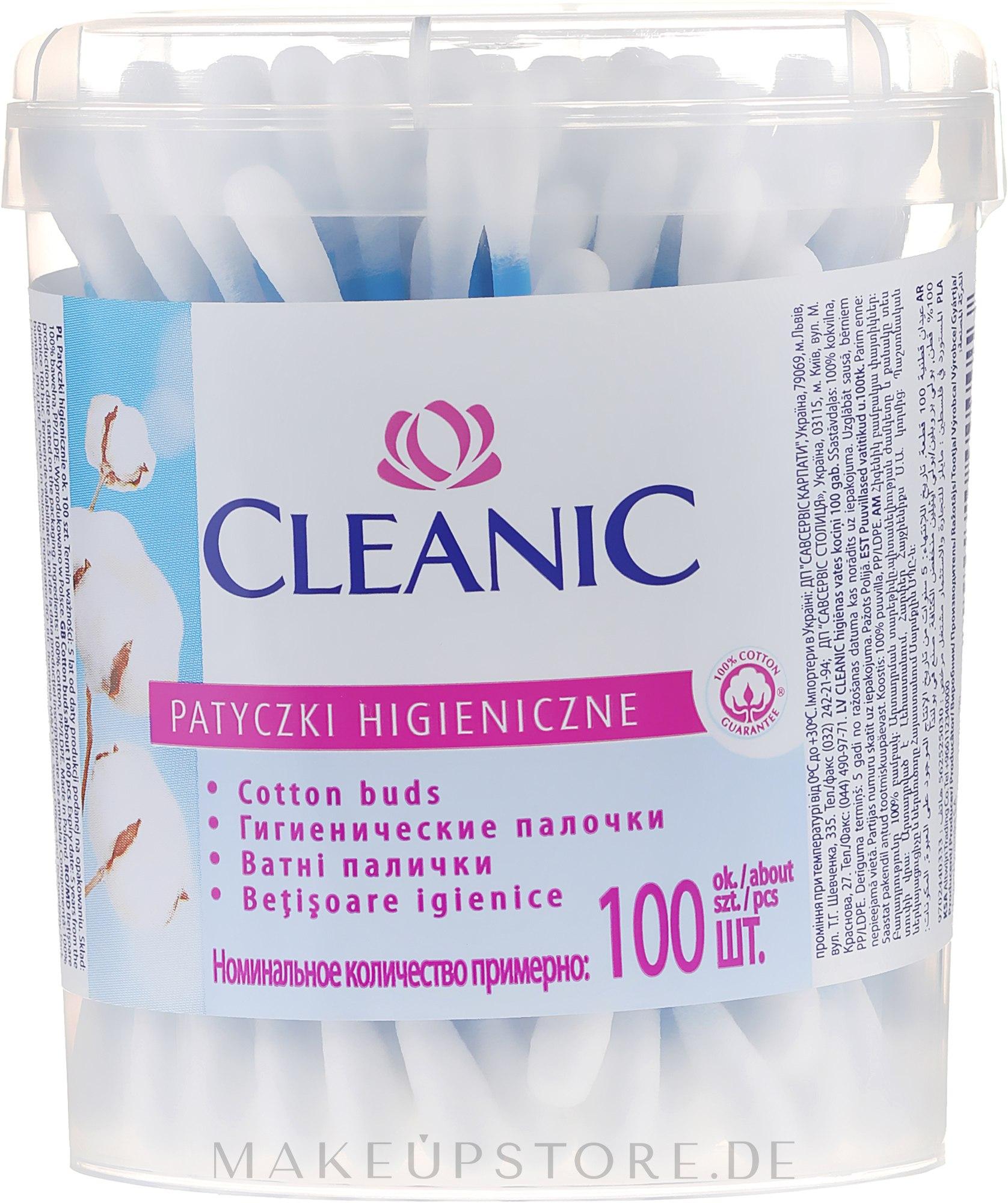 Wattestäbchen 100 St. - Cleanic Face Care Cotton Buds — Bild 100 St..