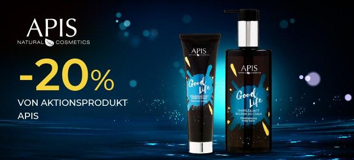 -20% von Aktionsprodukt APIS Professional. Die Preise auf der Website sind inklusive Rabatt