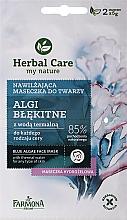 Düfte, Parfümerie und Kosmetik Feuchtigkeitsspendende Gesichtsmaske mit blauen Algen und Thermalwasser - Farmona Herbal Care Blue Algae Face Mask