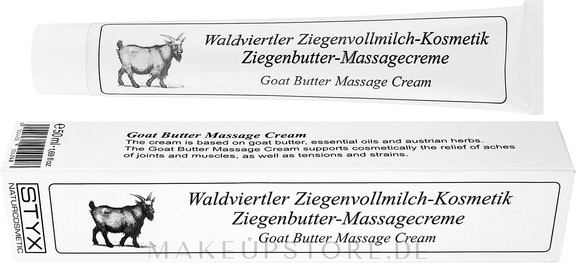 Massagecreme mit Ziegenbutter - Styx Naturcosmetik Goat's Milk Butter Massage Cream — Bild 50 ml