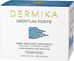 Düfte, Parfümerie und Kosmetik Nährende Gesichtscreme für Tag und Nacht mit Vitamin D, E, Kalzium und Q10 - Dermika Meritum Cream