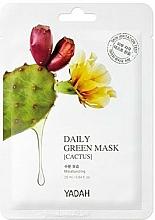 Düfte, Parfümerie und Kosmetik Feuchtigkeitsspendende Tuchmaske mit Kaktus-Extrakt - Yadah Daily Green Mask Cactus