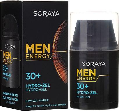 Feuchtigkeitsspendendes und mattierendes Gesichtsgel 30+ - Soraya Men Energy — Bild N1