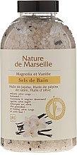 Düfte, Parfümerie und Kosmetik Badesalz mit natürlichen Ölen Magnolie und Vanille - Nature de Marseille