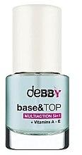 Düfte, Parfümerie und Kosmetik 5in1 Unter- und Überlack mit Vitaminen - Debby Base & Top