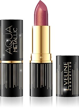 Lippenstift - Eveline Cosmetics Aqua Metallic Lipstick — Bild N1