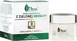 Düfte, Parfümerie und Kosmetik Gesichtscreme mit Grüntee-Extrakt für trockene und empfindliche Haut - Ava Laboratorium Green Tea Cream For Dry And Sensitive Skin