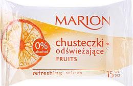 Düfte, Parfümerie und Kosmetik Erfrischende Feuchttücher mit Fruchtduft 15 St. - Marion