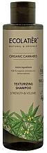 Düfte, Parfümerie und Kosmetik Stärkendes Shampoo für mehr Volumen mit Bio Hanföl und Zitronenextrakt - Ecolatier Organic Cannabis Texturizing Shampoo