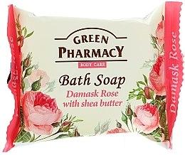 "Düfte, Parfümerie und Kosmetik Seife ""Damaszener Rose mit Sheabutter"" - Green Pharmacy"