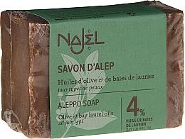 Düfte, Parfümerie und Kosmetik Aleppo-Seife mit 4% Olivenöl - Najel 4% Aleppo Soap