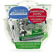 Düfte, Parfümerie und Kosmetik Pflegeset für fettiges Haar - Secrets De Provence Natural Red Clay (Festes Shampoo 85g + Box)