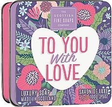 Düfte, Parfümerie und Kosmetik Luxuriöse Seife im Metallbox Für dich mit Liebe - Scottish Fine Soaps To You with Love Soap In A Tin