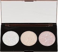 Highlighter-Palette - Makeup Revolution 3 Strobe Highlighter Palette — Bild N2