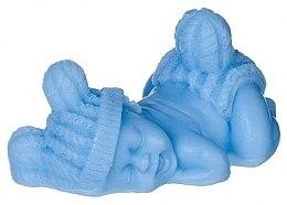 Düfte, Parfümerie und Kosmetik Handgemachte Naturseife Schlaffendes Baby himmelblau - LaQ Happy Soaps