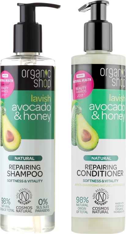 Haarpflegeset - Organic Shop (Haarshampoo 280ml + Haarspülung 280ml)