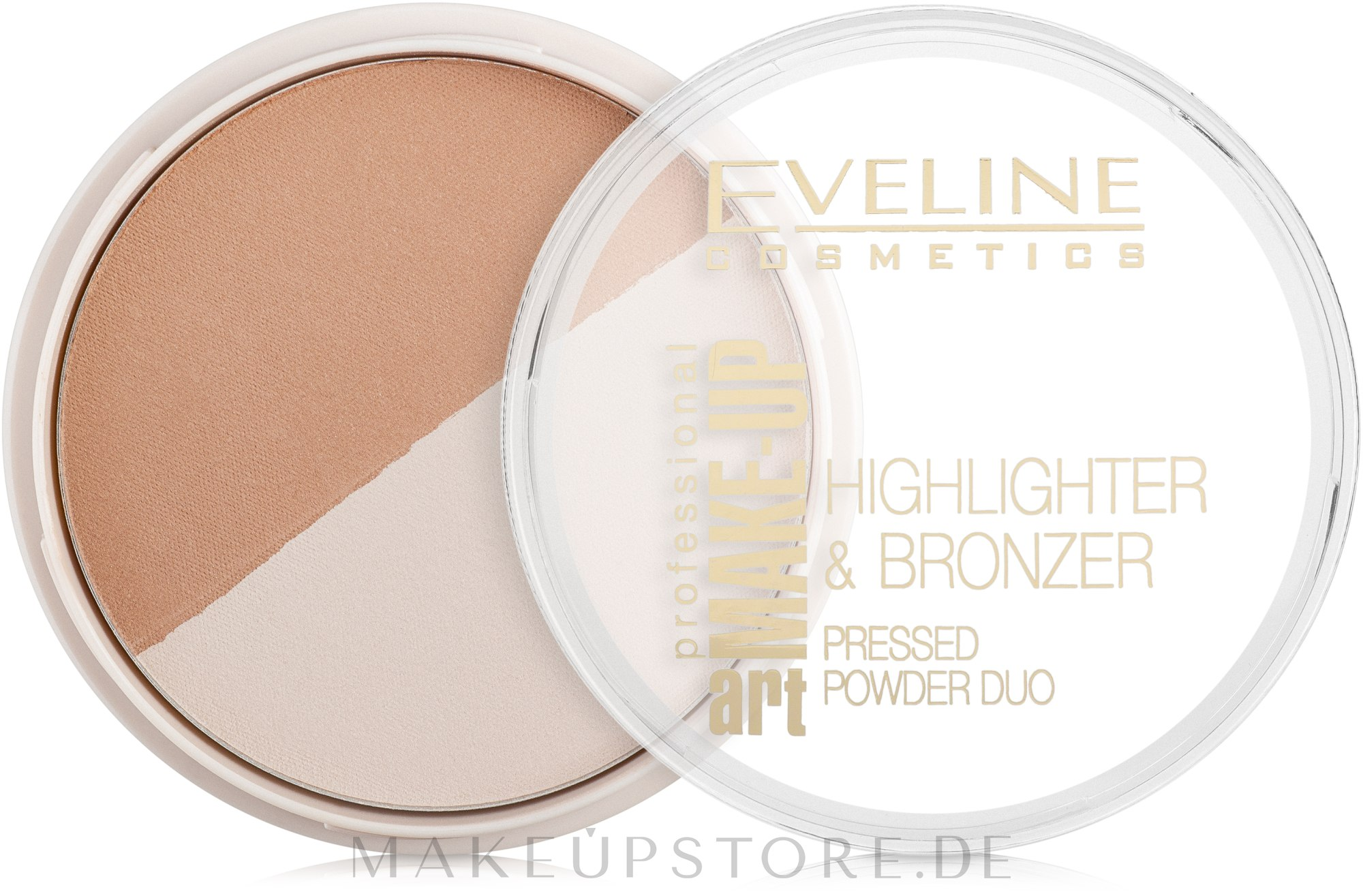 Duo Bronzing Gesichtspuder - Eveline Cosmetics Art. Professional Make-Up Glam — Bild 56 - Glam Light
