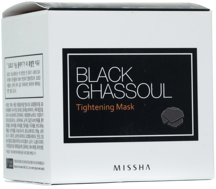 Straffende und glättende Gesichtsmaske zur Verengung der Poren mit schwarzer Lavaerde - Missha Black Ghassoul Tightening Mask — Bild N1