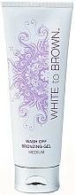Düfte, Parfümerie und Kosmetik Glänzendes Selbstbräunungsgel - White To Brown One Day Tan White