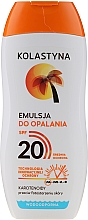 Düfte, Parfümerie und Kosmetik Wasserfeste Sonnenschutzemulsion SPF 20 - Kolastyna Suncare Emulsion SPF20