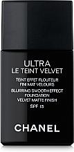 Düfte, Parfümerie und Kosmetik Extra leichte langanhaltende Foundation mit samtig-mattem Finish - Chanel Ultra Le Teint Velvet SPF 15