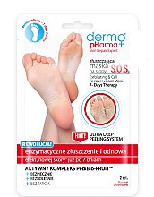 Düfte, Parfümerie und Kosmetik Peeling und zellregenerierende Fußmaske - Dermo Pharma Skin Repair Expert S.O.S. Exfoliating & Cell Recovery Foot Mask