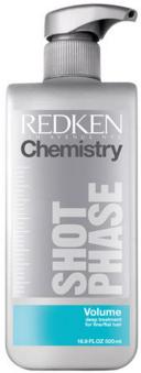 Intensive Reparatur-Behandlung für feines und plattes Haar - Redken Chemistry Volume Shot Phase — Bild N1