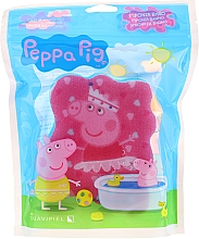 Düfte, Parfümerie und Kosmetik Kinder-Badeschwamm Peppa Pig Ballerina Peppa rosa-blau - Suavipiel Bath Sponge