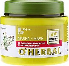 Düfte, Parfümerie und Kosmetik Haarmaske für coloriertes Haar - O'Herbal