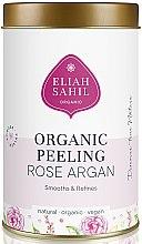 Düfte, Parfümerie und Kosmetik Glättendes und aufweichendes Bio Körperpeeling mit Rose und Argan - Eliah Sahil Organic Peeling Rose Argan