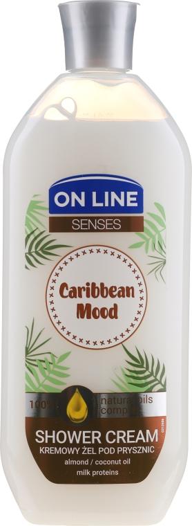 Duschcreme Caribbean Mood mit Mandel, Kokosnussöl und Milchprotein - On Line Caribbean Mood Shower Cream — Bild N1