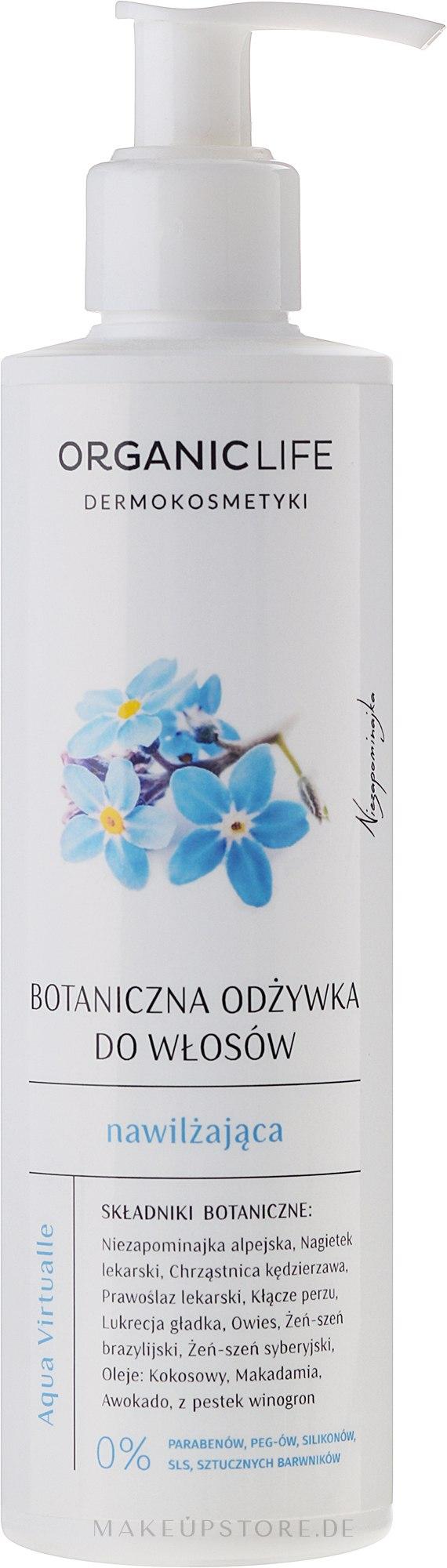 Haarspülung - Organic Life Dermocosmetics Aqua Virtualle Botanical Moisturizing Hair Conditioner — Bild 250 ml