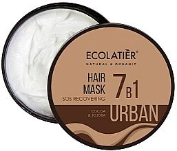 Düfte, Parfümerie und Kosmetik Regenerierende 7in1 Haarmaske mit Kakao und Jojoba - Ecolatier Urban Hair Mask