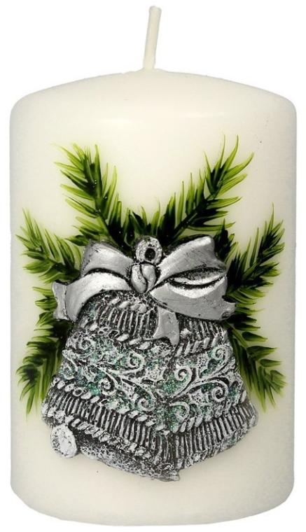 Dekorative Kerze Christmas Bells - Artman Christmas Bell Candle Ø7xH10cm — Bild N1