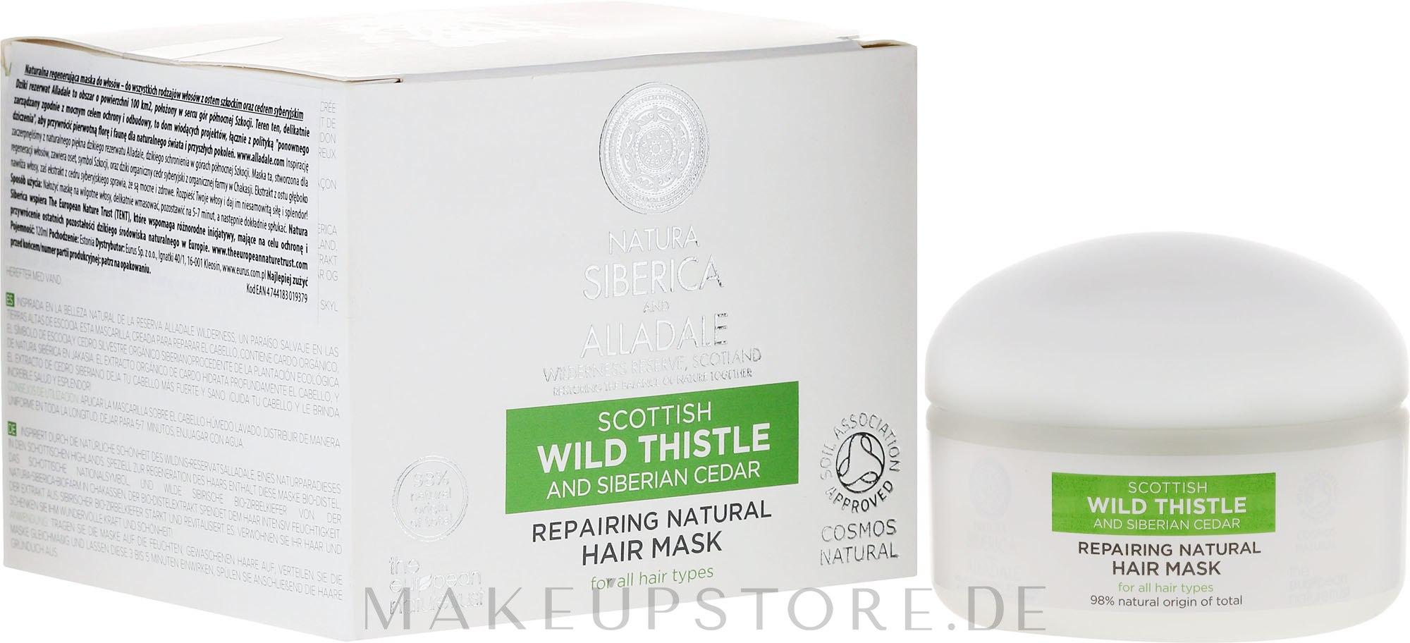 Regenerierende Haarmaske - Natura Siberica Alladale Repairng Natural Hair Mask — Bild 120 ml