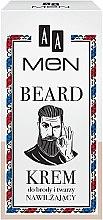 Düfte, Parfümerie und Kosmetik Feuchtigkeitsspendende Bart- und Gesichtscreme - AA Cosmetics Men Beard Face Cream