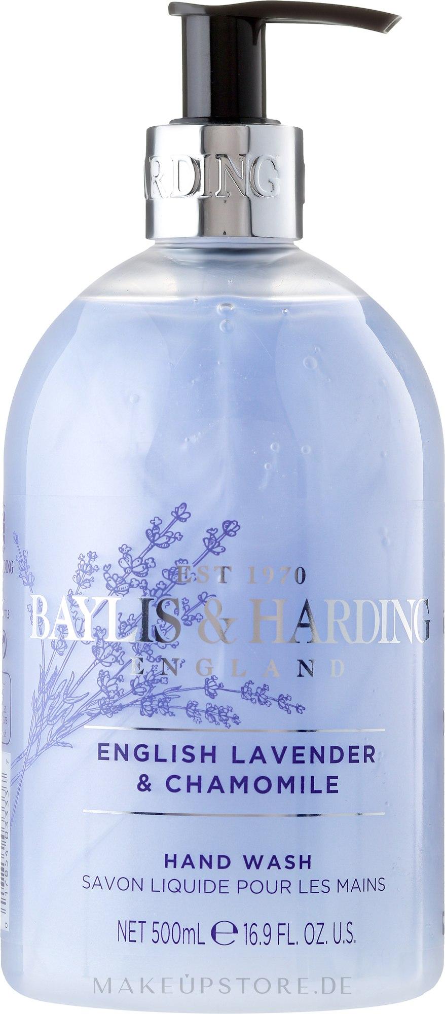 """Flüssige Handseife """"Schöllkraut"""" - Baylis & Harding French Lavender & Chamomile Hand Wash — Bild 500 ml"""
