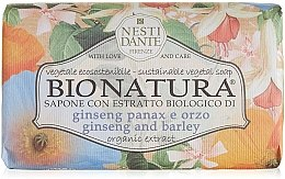 Düfte, Parfümerie und Kosmetik Naturseife Ginseng & Barley - Nesti Dante Vegetable Soap Bio Natura Collection