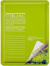 Düfte, Parfümerie und Kosmetik Tuchmaske mit grünem Tee - Steblanc Essence Sheet Mask Green Tea