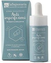 Düfte, Parfümerie und Kosmetik Natürlich ausgleichendes Gesichtsserum bei Mittessern und Pickeln - La Saponaria Anti-Blemish Serum